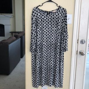 NWT Michael Kors Black/Cream Print Capsule Dress 3